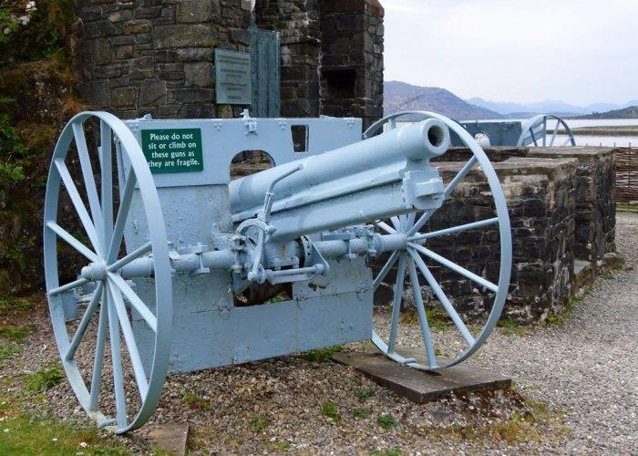 German field gun, Eilean Donan, MacRae Memorial
