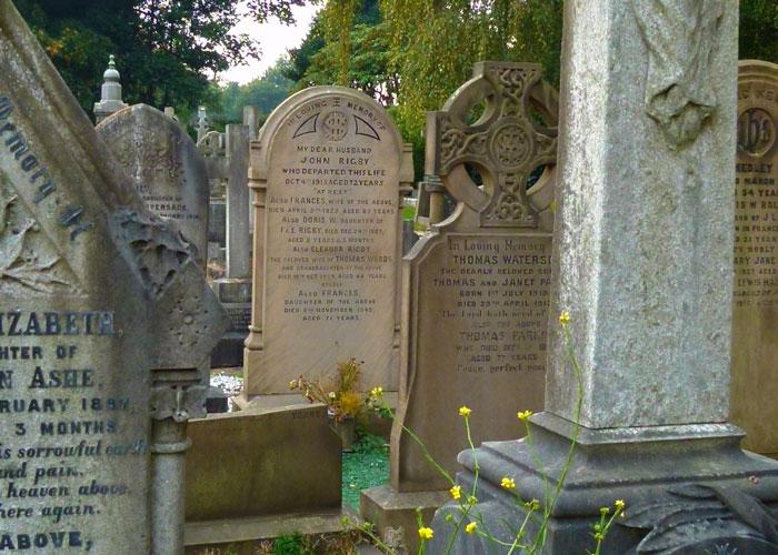 Eleanor Rigby, gravestone, St Peter's churchyard, Woolton.