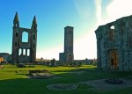 The ruins of St Andrews Cathedral and St Rule's Church