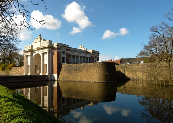 Menin Gate, Ypres, moat, Missing