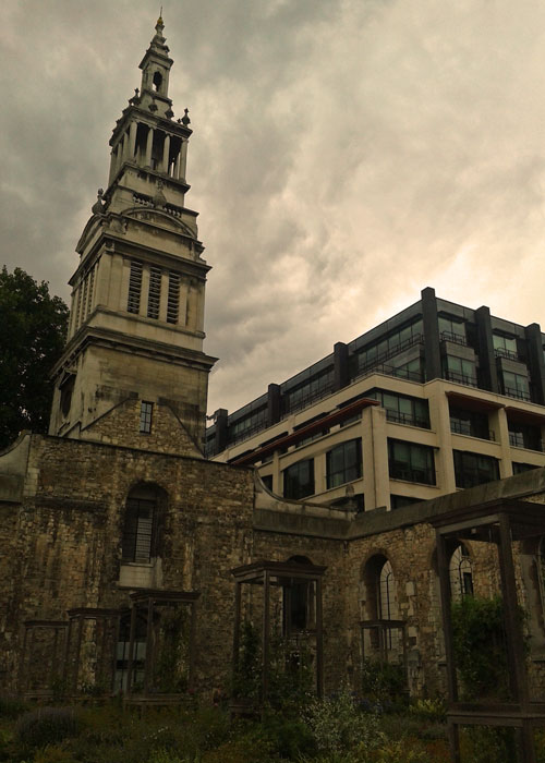 Christ Church Greyfriars, the tower, Merrill Lynch