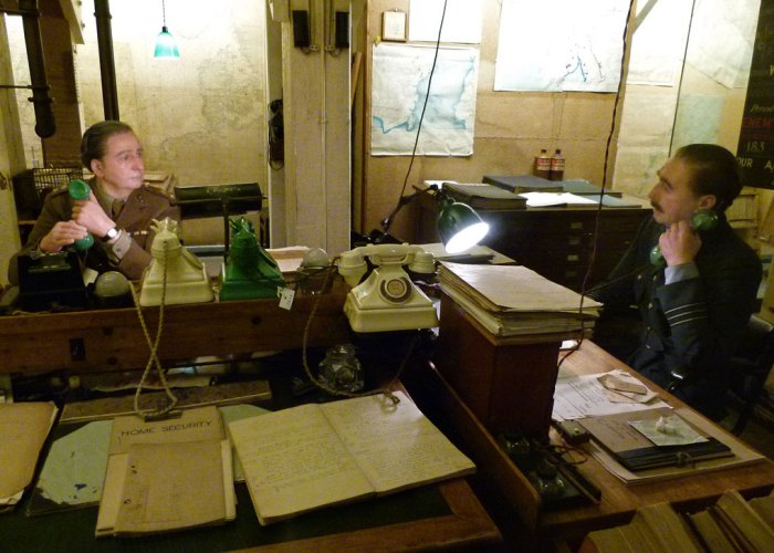 Cabinet War Rooms, London, the Map Room,