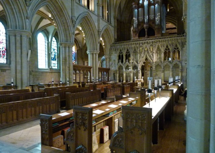 Southwell Minster, quire, pulpitum