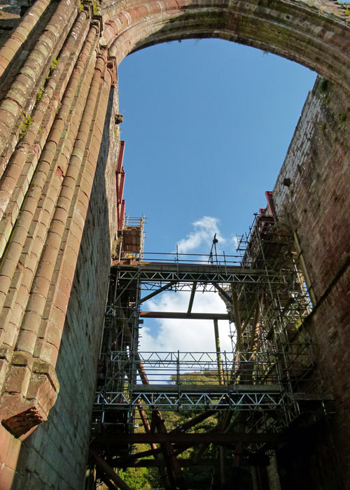 Furness Abbey, conservation work