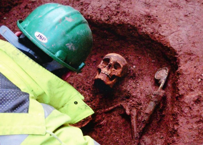 Furness Abbey, skeleton