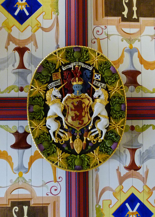 Stirling Palace, James, coat of arms