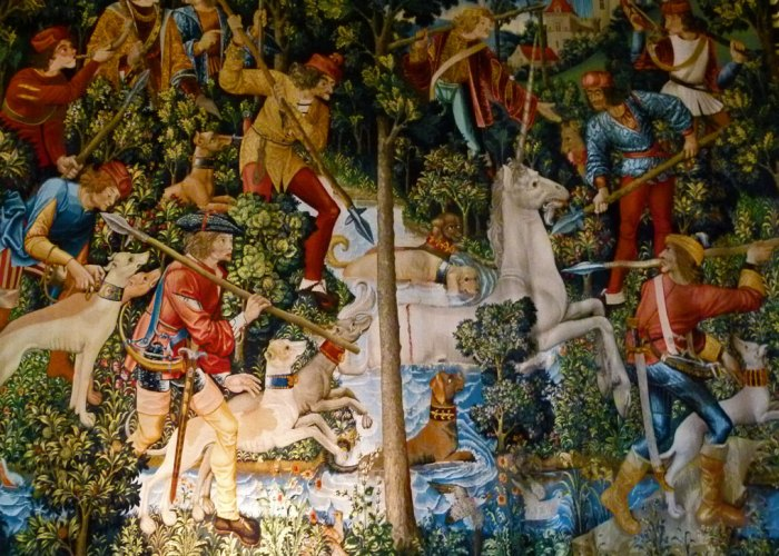 Hunt of the Unicorn, tapestry, Stirling