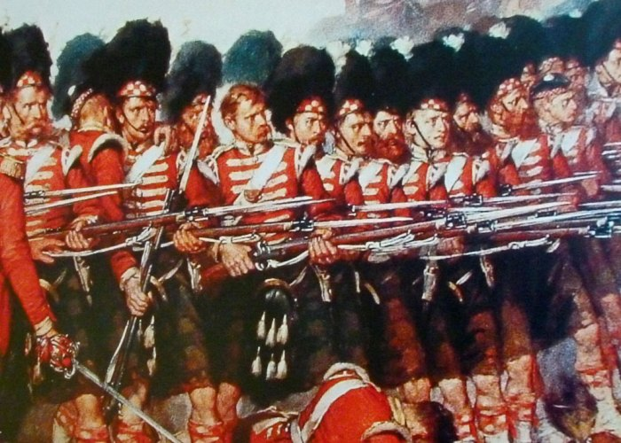 Thin red line, Argyll and Sutherland Highlanders