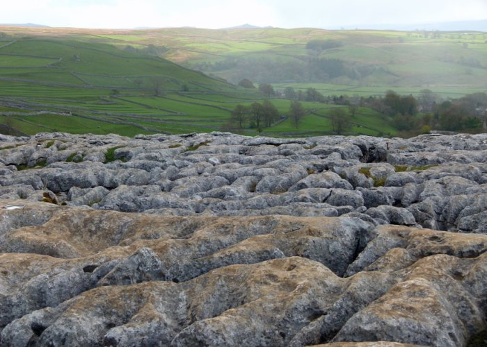 Clints, grykes, pits, pans, Limestone pavement