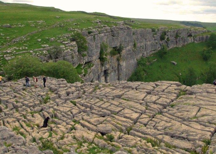 Limestone pavement, Yorkshire Dales, walking