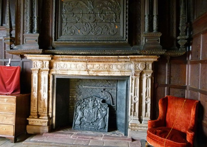 Fireplace, Kenilworth, castle, gatehouse