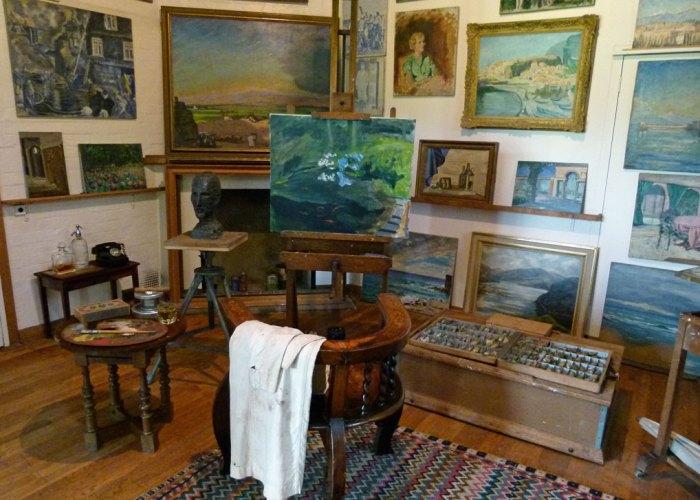 Churchill's studio, Chartwell, Churchill as an artist