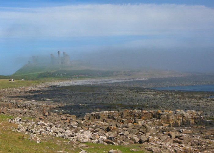 Dunstanburgh, castle, Northumbria