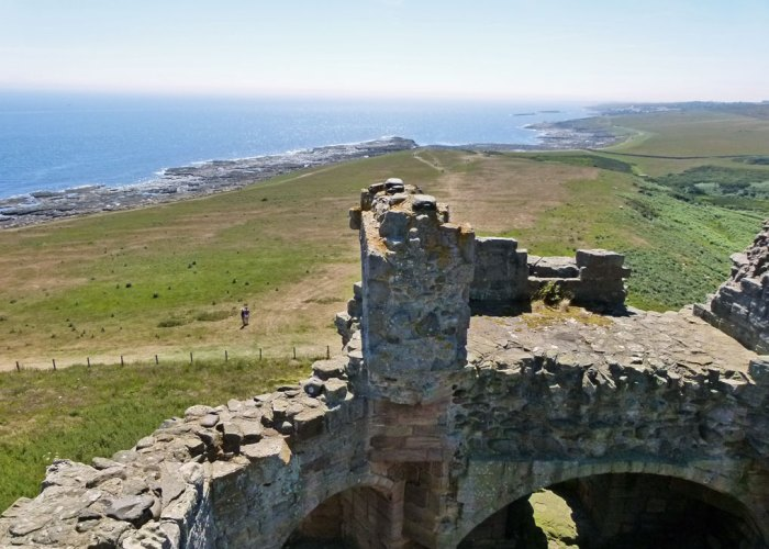 Dunstanburgh Castle, views in Northumberland