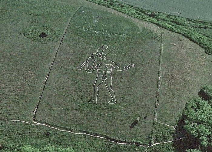 Cerne Abbas Giant, Dorset, chalk figures