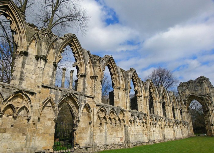Remains of the abbey church of St Mary's, York
