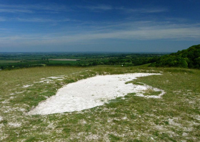 Dragon Hill, bare patch