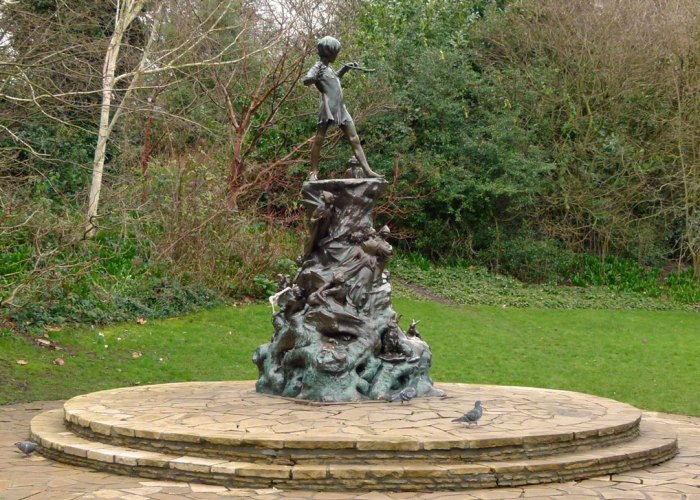 Peter Pan, JM Barrie, visit London