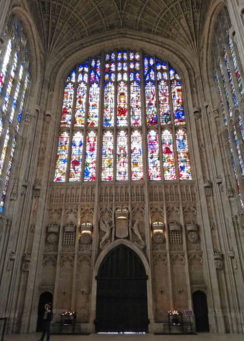 King's College Chapel, interior, west end