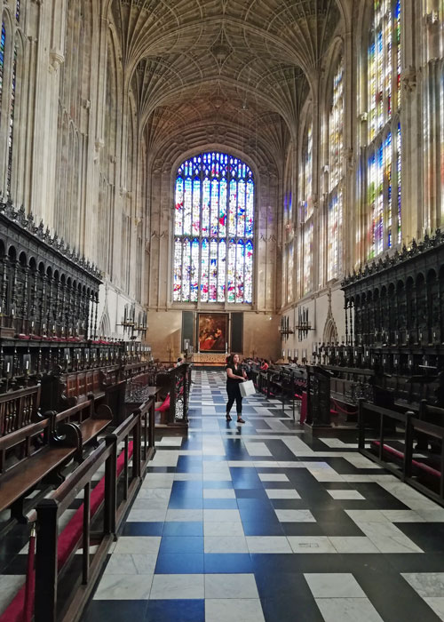 King's College Chapel, choir, Cambridge