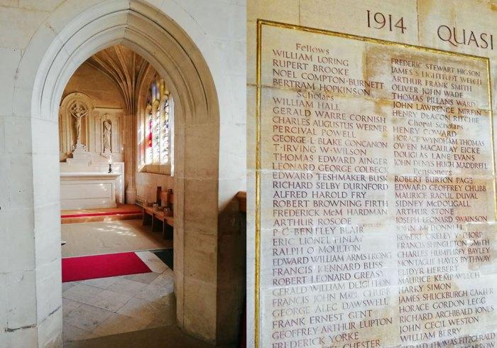 Chapel of All Souls, King's College Chapel, Cambridge, Rupert Brooke