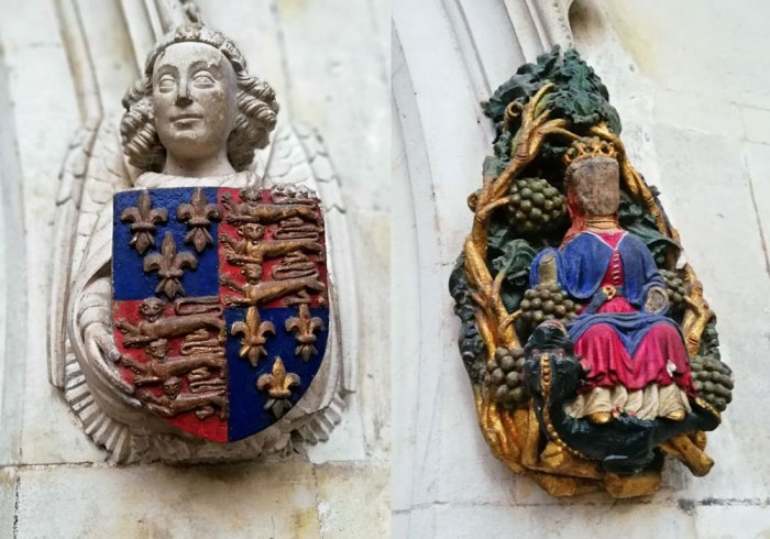 Carvings, King's College Chapel, Cambridge