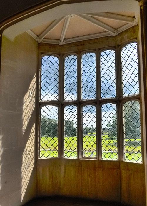 Lacock Abbey, oriel window, Fox Talbot