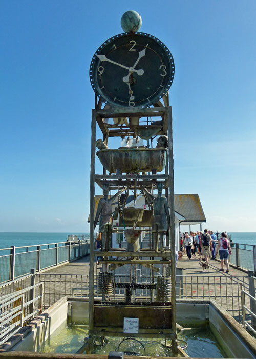 Southwold, pier, water clock