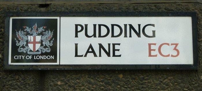 Pudding Lane, Great Fire