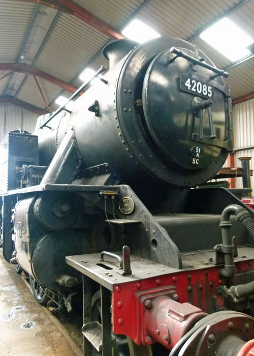Inside Haverthwaite, engine shed