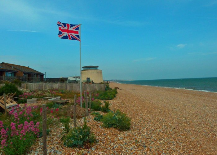 Pevensey beach, Martello Tower