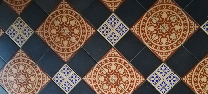 Gawthorpe, floor tiles