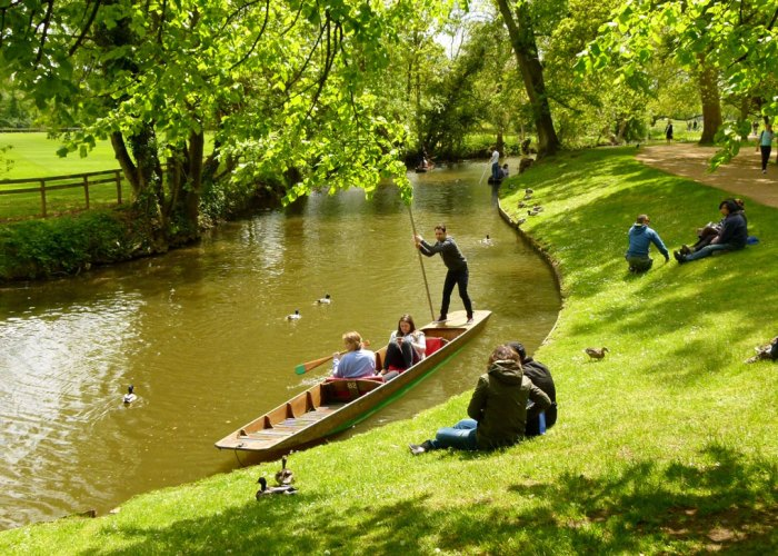 Punting, Cherwell, Oxford