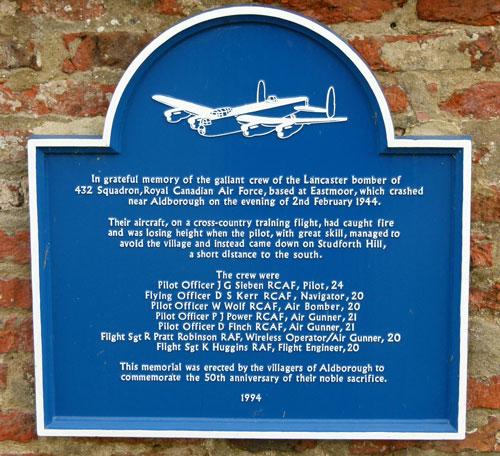 Aldborough, Canadian airmen memorial