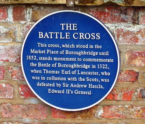 Battle of Boroughbridge plaque