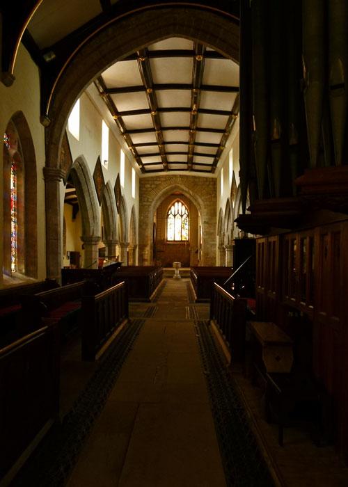 The nave, St Andrew's Aldborough