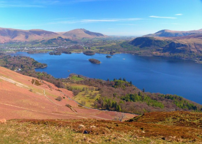 A view of Derwent Water from the top of Cat Bells