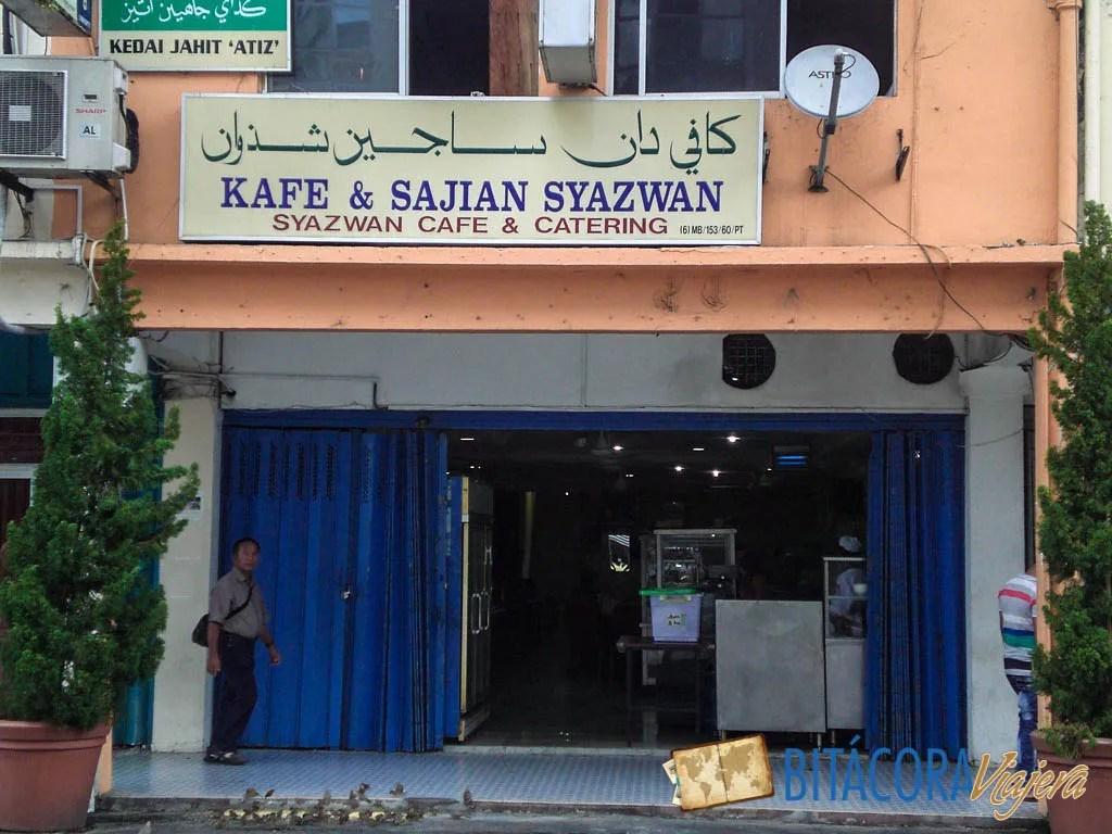El restaurante indio que elegimos.