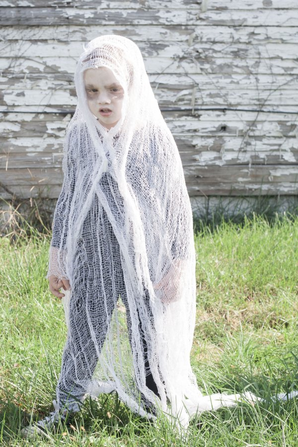 Easy Diy Scary Ghost Costume - Bit & Bauble