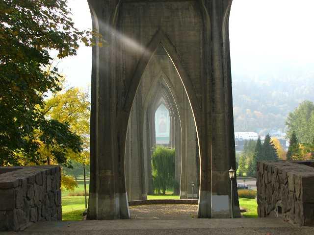 Cathedral Park under St. John's Bridge