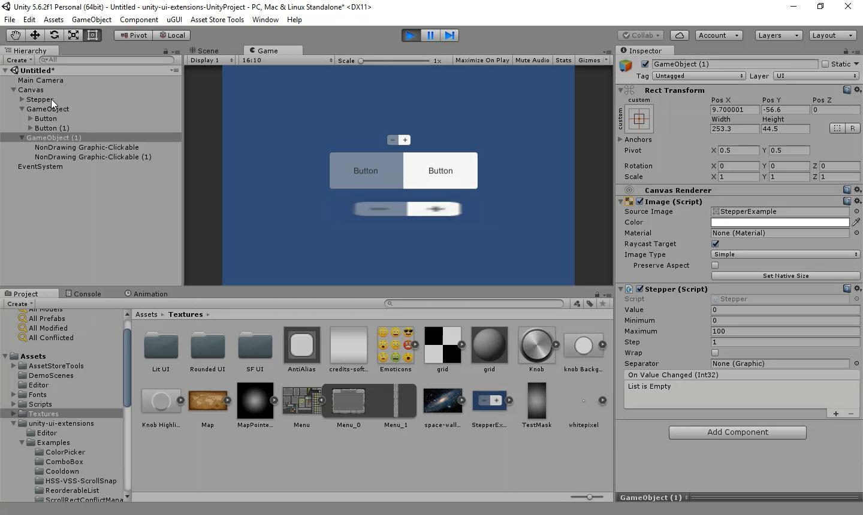 UnityUIExtensions  UnityUIExtensions  wiki  Controls