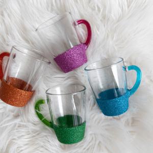 Glitter tea cups