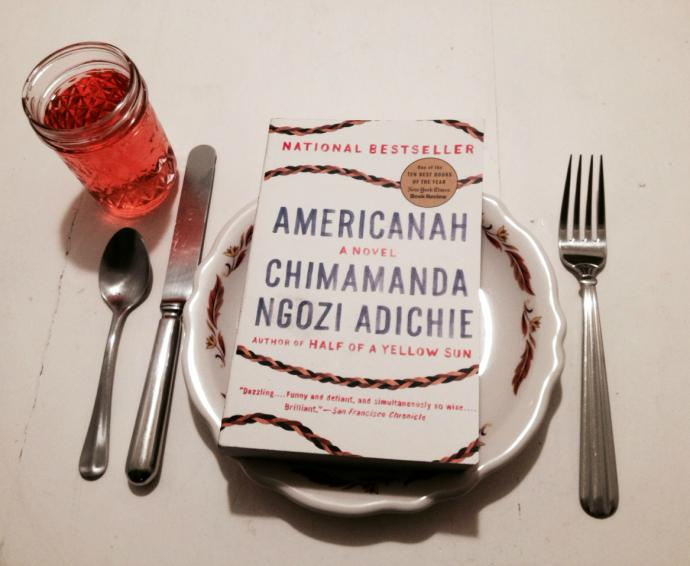 americanah on a dinner plate, ready to be devoured
