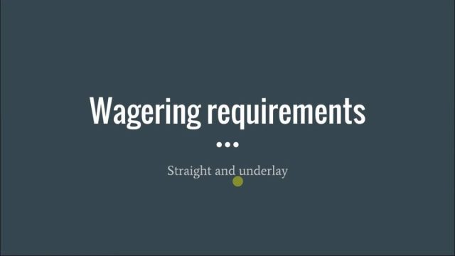 Bitcoin Casino Bonus Wagering Requirements