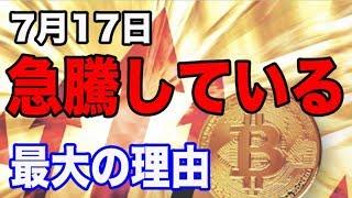 【7月17日】軒並み5%以上も高騰している理由とは!! 稼げる仮想通貨投資 ビットコイン