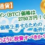 【仮想通貨】ビットコイン(BTC)価格は2750万円!(2022年)ここまで価格上昇するための条件は●●!今後どのように投資すべきか?