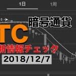 【暗号通貨】ビットコイン最新情報(2018/12/7)海外情報チェック