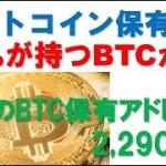 【BTC】ビットコイン保有者の80%が持つBTCが…。世界のBTC保有アドレスは2,290万件【暗号通貨】