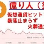 仮想通貨ビットコイン暴落止まらず、火葬通貨へ?