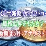 迫る「半減期」がビットコイン価格上昇をもたらす|転換期は5月:アナリスト予想【仮想通貨】
